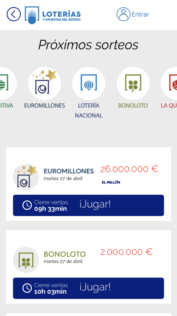 Mis Loterías app